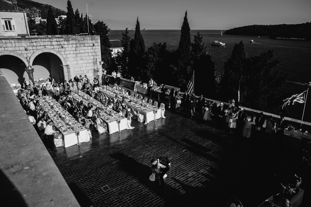 The first dance at The Museum of Modern Art Dubrovnik Wedding