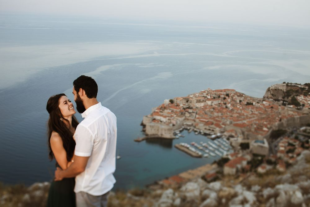 The best views of Dubrovnik and the surrounding area from the top of the Srd Hill. Photosession in Dubrovnik