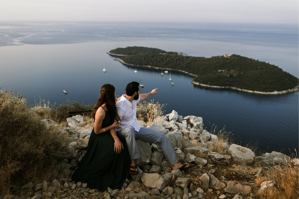 A view of the Lokrum Island - an unique spot for Wedding in Dubrovnik
