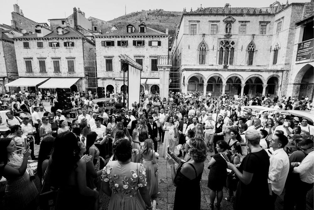 Croatian traditional Wedding Festive after wedding ceremony