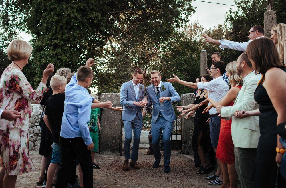 Reception venue entrance - Gay destination wedding in Dubrovnik, Croatia