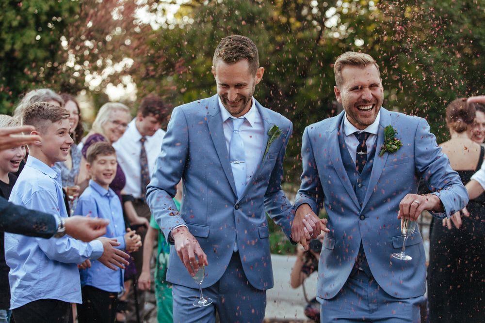 Gay destination wedding in Dubrovnik, Croatia, The beautiful moment during a Wedding reception
