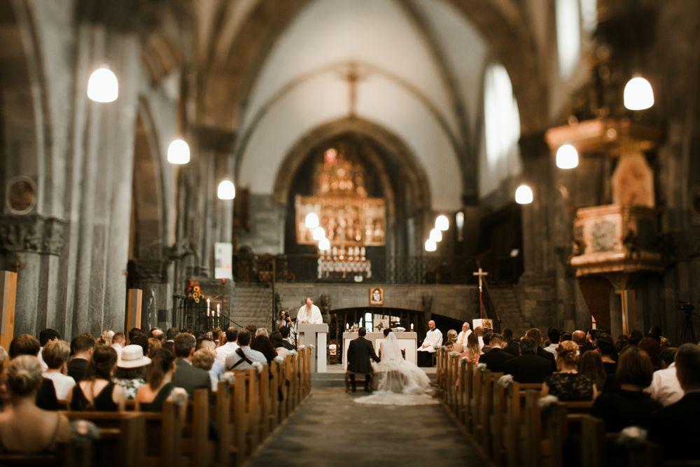 The wedding ceremony in Chur