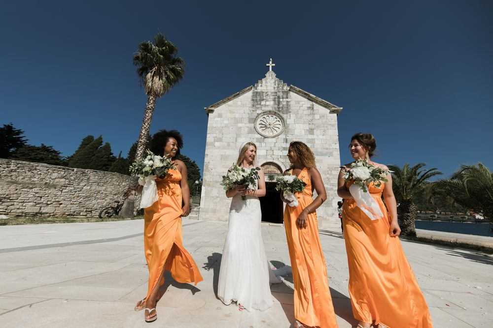 Weddin in Croatia, Vis Island, Croatia, St. Jeromes church