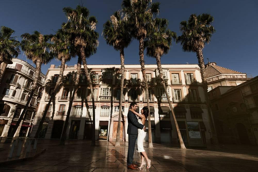 Wedding couple during wedding in Marbella photosession Malaga photographer Videographer