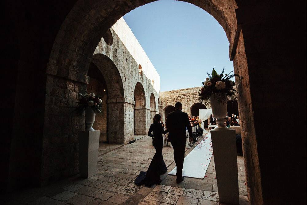 Moments before the Egyptian marriage ceremony in Dubrovnik's Fort Lovrijenac