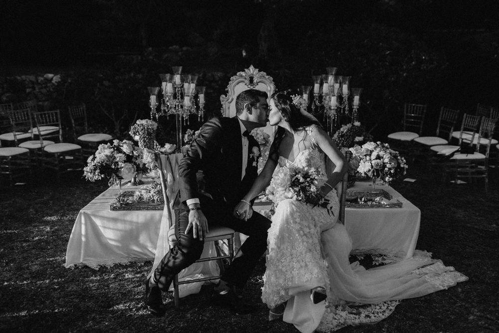 A newly wedd couple after their wedding in Spain, Malaga. Marbella wedding videographer and photographer