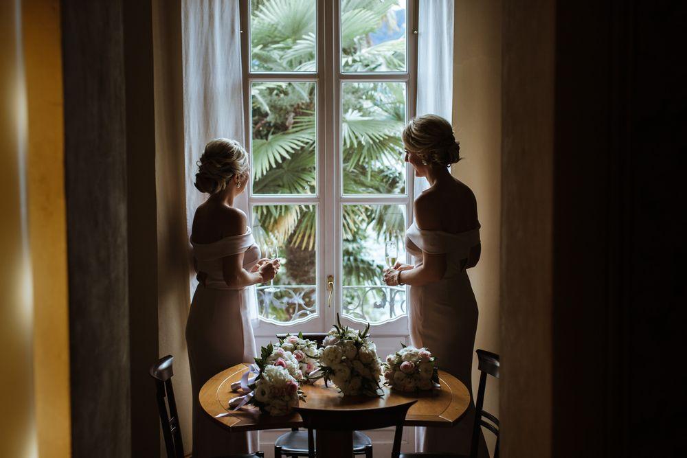 Bridesmaids at Villa Gippini by Lake Como weddings