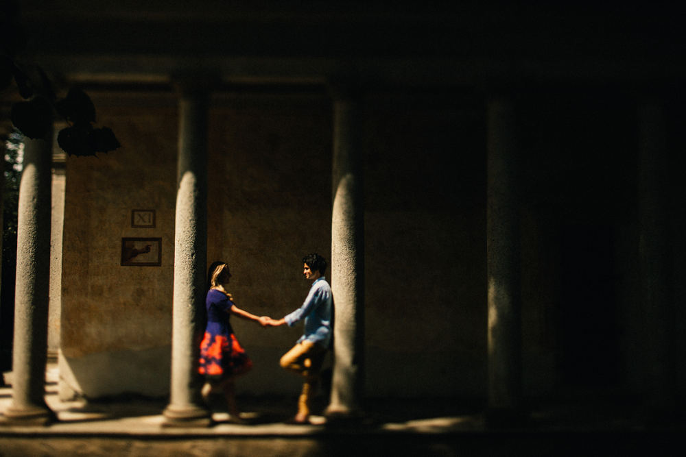 Romantic after wedding session at Lago d'Orta