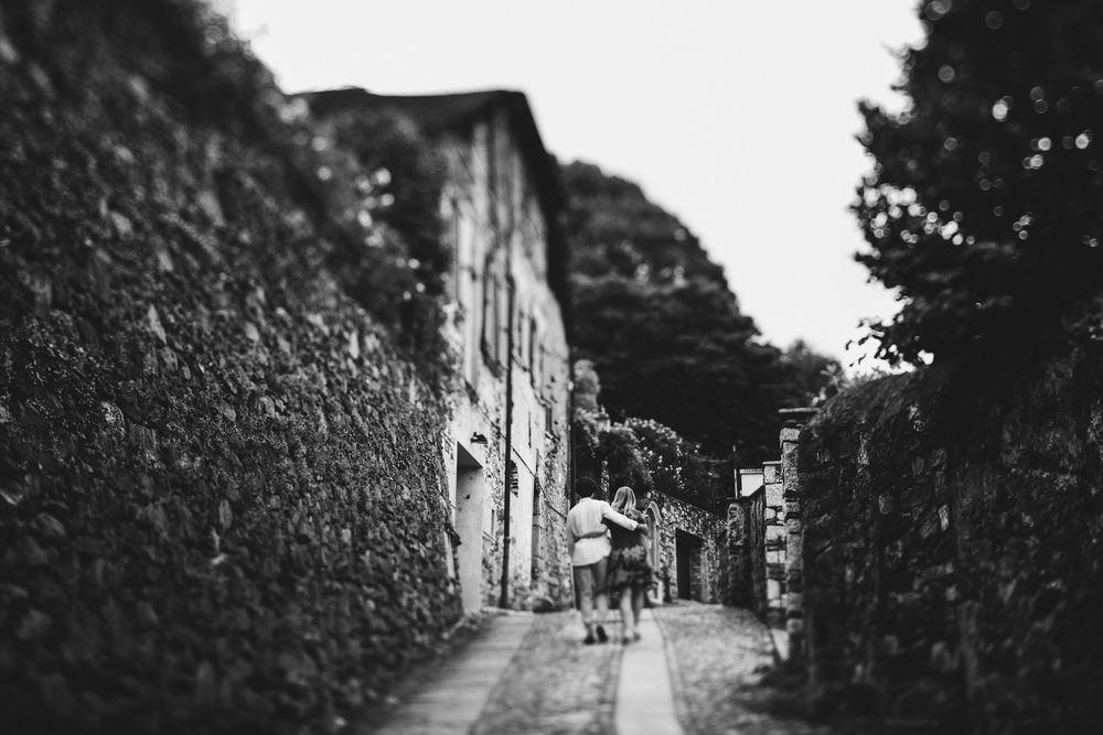 lake Orta pathways by Italy wedding photographer
