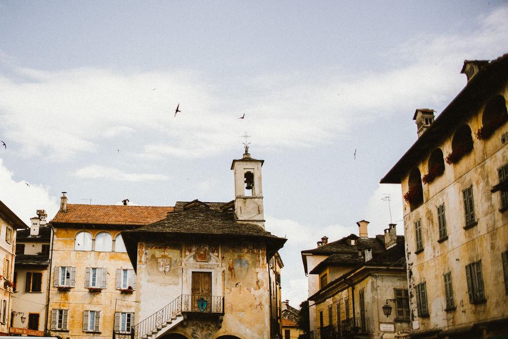 A tiny magic village Orta San Giulio captured by © wedding photographer Lake Como