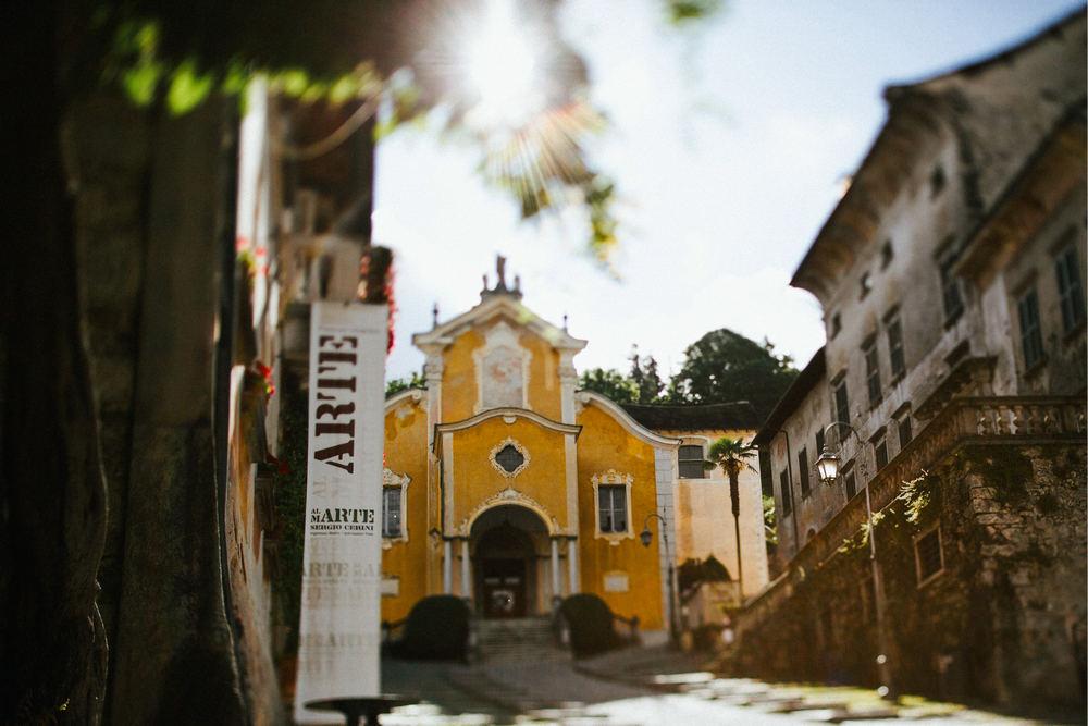 Beautiful church of Santa Maria Assunta Lake Orta by dt studio