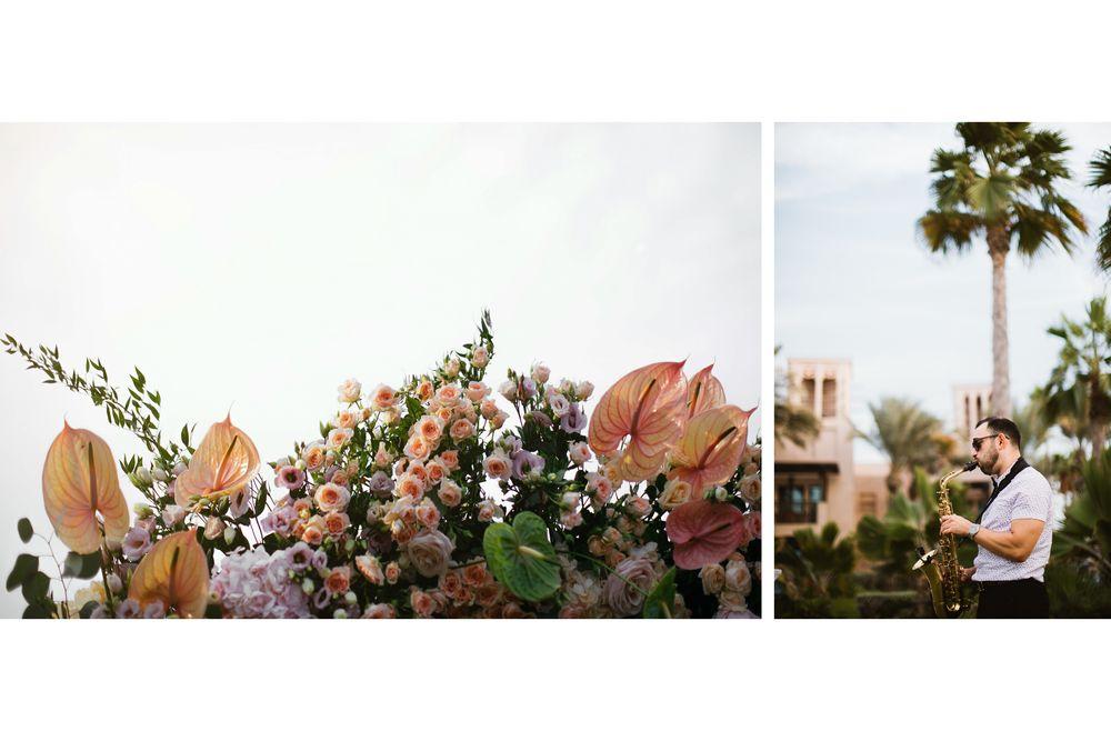 Beautiful flower decorations in Dubai