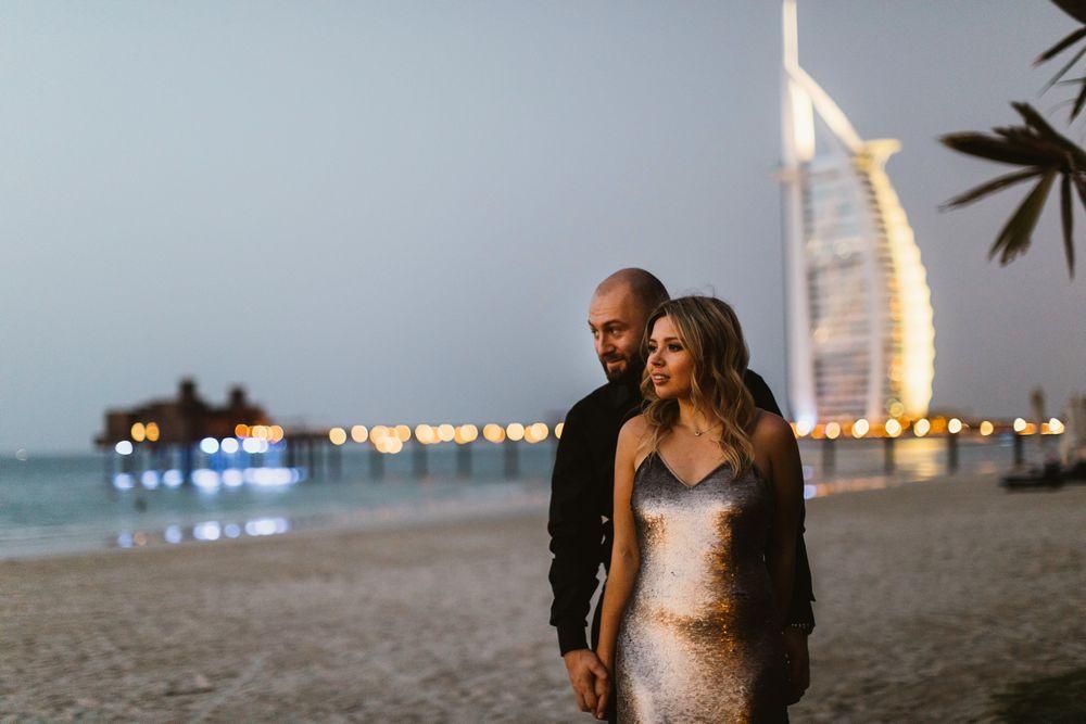 Gorgeous couple at prewedding session in Dubai