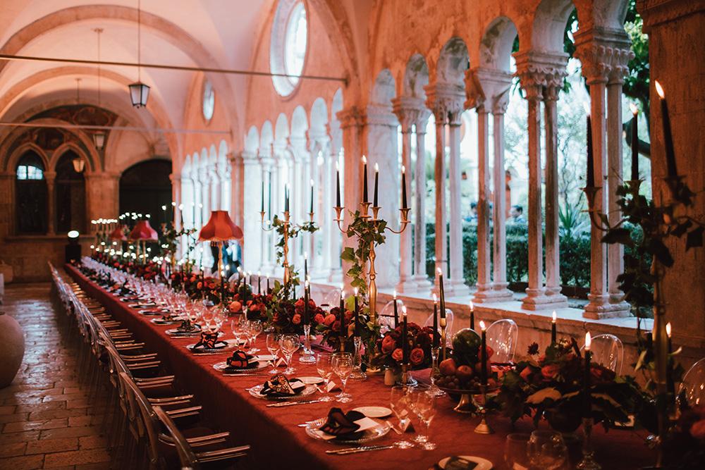 Gorgeous wedding setup in Croatia