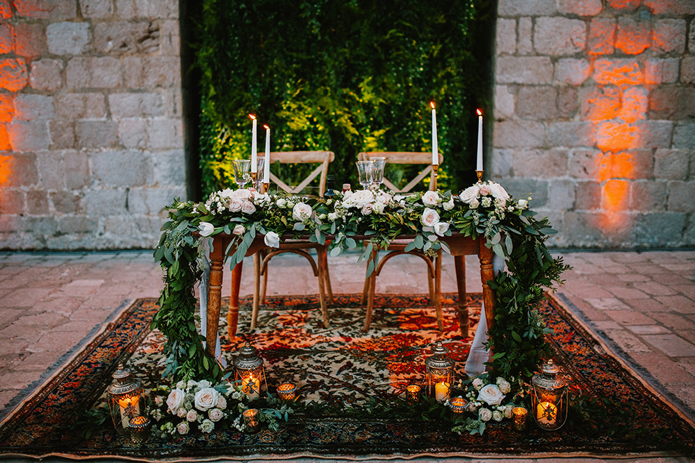 Beautiful wedding setup by weddings in Croatia