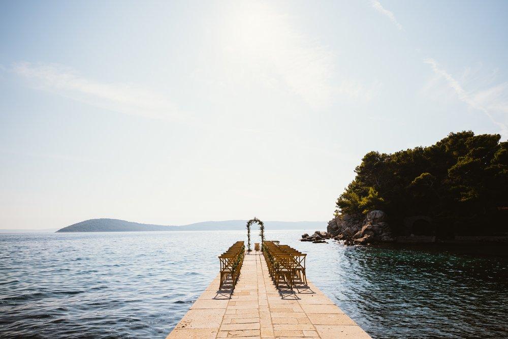 Villa Dalmacija Wedding Venue by the sea in Split, Croatia