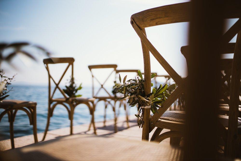 Beauty of outdoor wedding venue in Split, Croatia