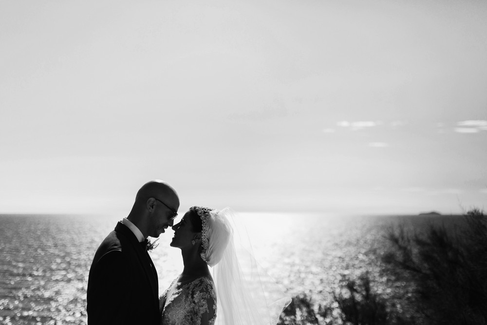 Nora and Hammad's first look by Croatia wedding photographer