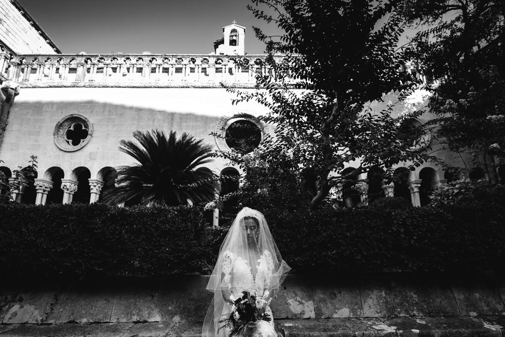 Egyptian bride posing for Croatian wedding photographer