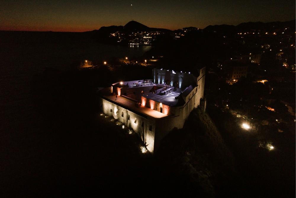Fort Lovrijenac by night - a perfect Wedding Venue in Dubrovnik