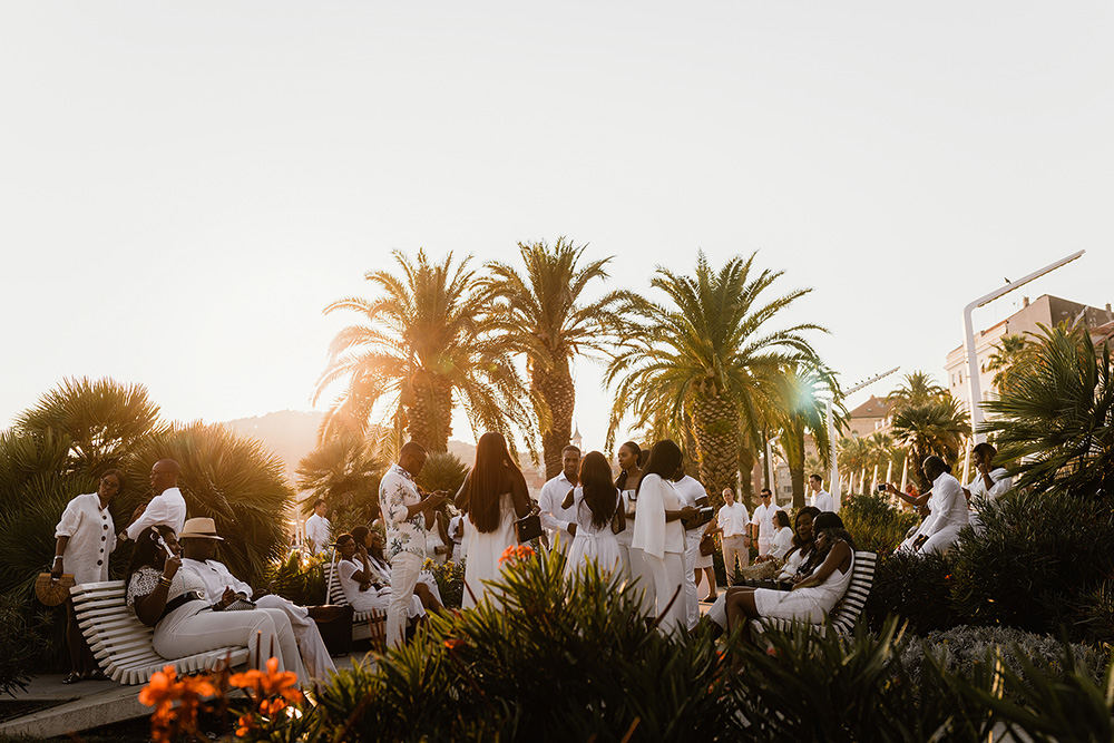 White wedding party in Split