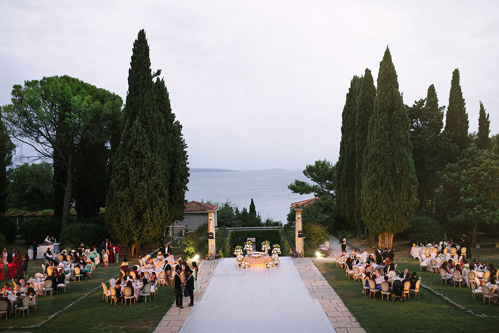 Outdoor wedding venue in Split