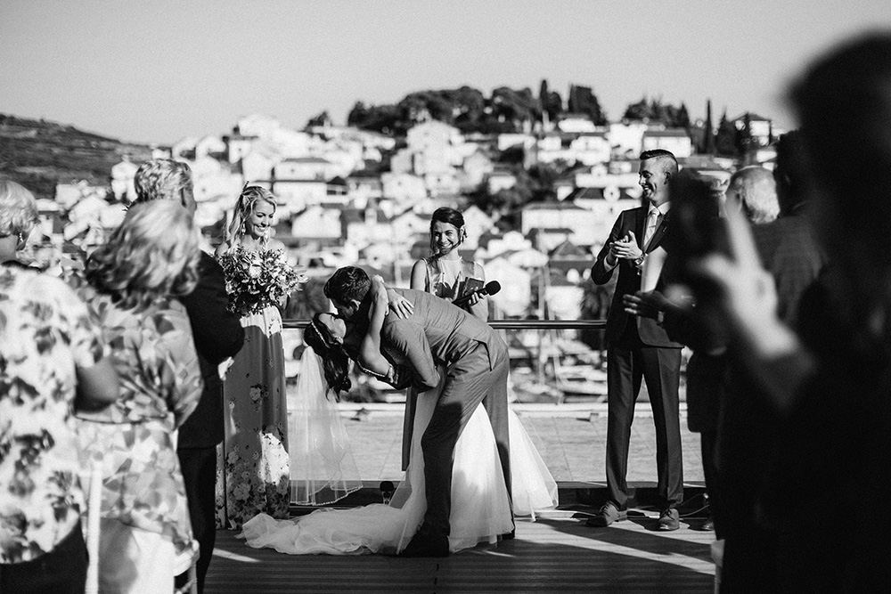 Rooftop wedding in Hvar
