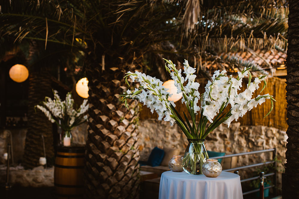 Restaurant Zori wedding decor